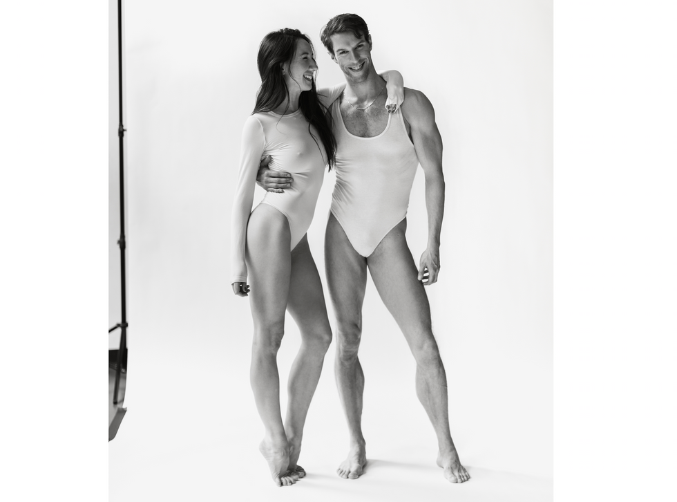 Isabella Boylston and James Whiteside on a photo set in black and white