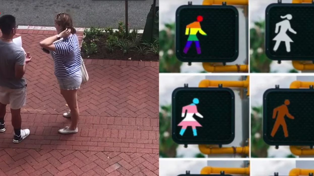 Students sign petition to remove oppressive white stick figure from crosswalk signs: 'We are told by the symbol of a white man when it is OK to cross' the street
