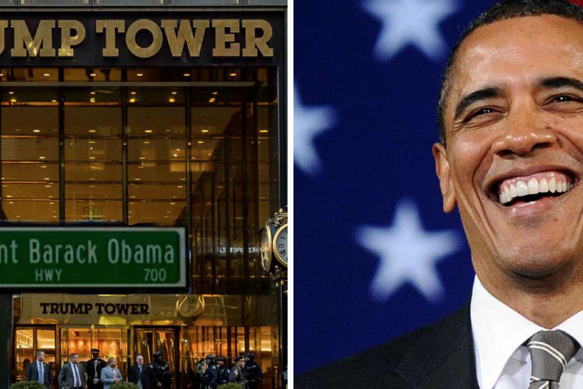 Over 100,000 people have signed a petition to rename the street in front of Trump Tower after Obama