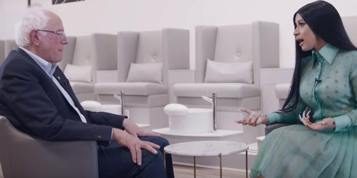 Watch Cardi B Take Bernie Sanders to a Nail Salon