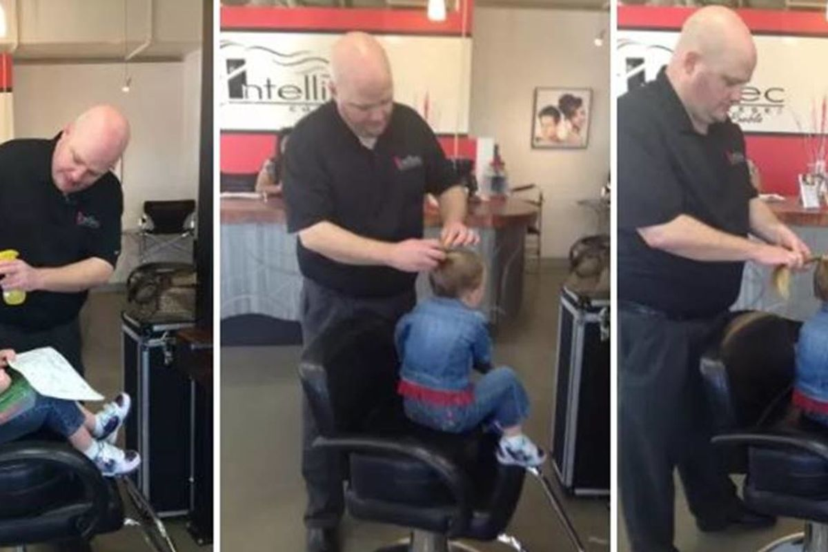 A single dad became an internet hero after taking a cosmetology lesson to style his daughter's hair
