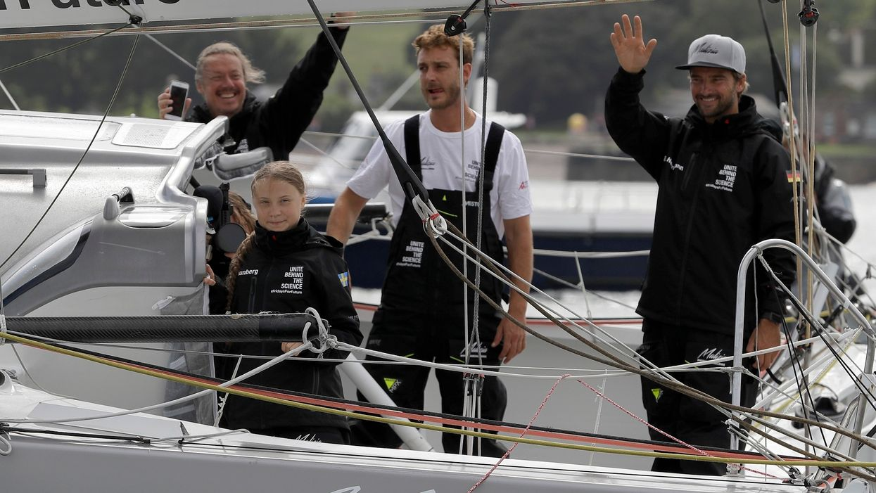 Swedish teen's 'zero-carbon yacht' trip to New York is not so green after all