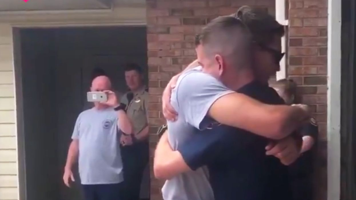 Colorblind firefighter had one wish, to see the American Flag, and his fellow heroes made it happen