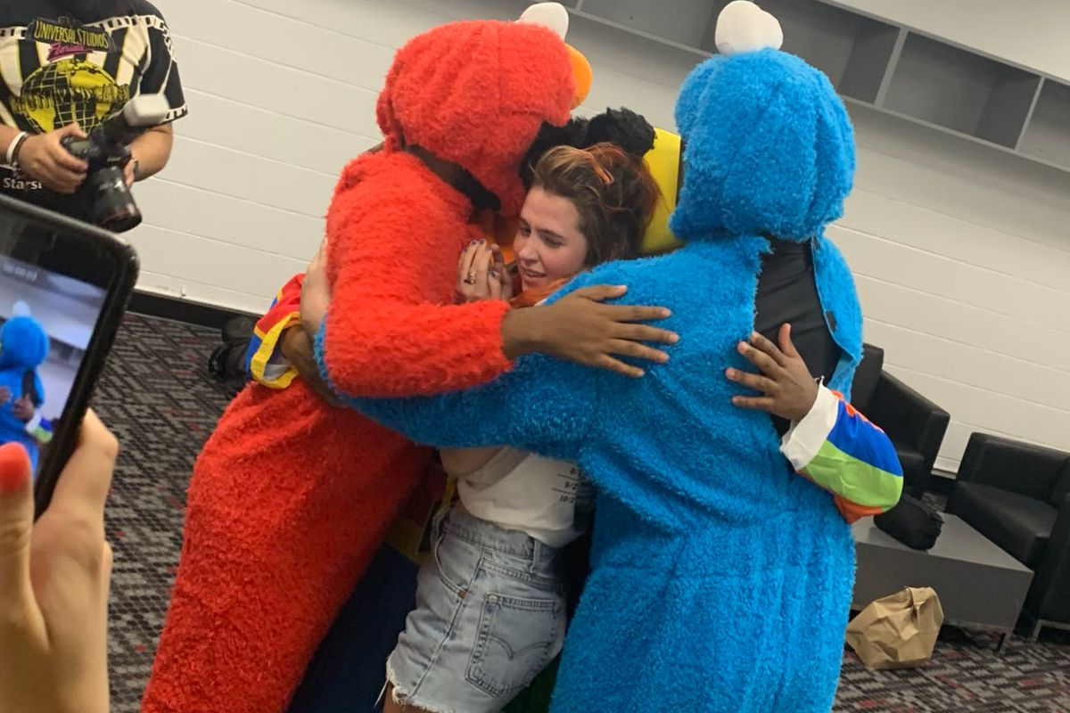Clairo Gets a Sesame Street Surprise from Khalid