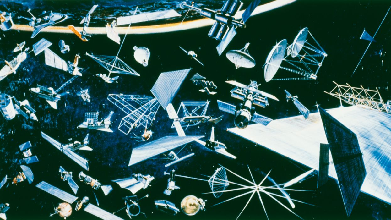 A recycling station in space could clean up space debris and junk by 2050