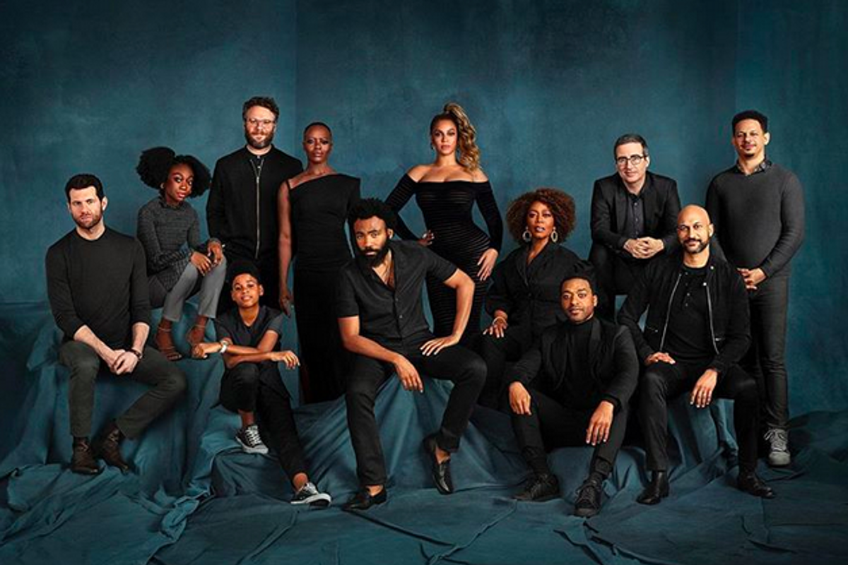 The Internet can't decide if Beyoncé was photoshopped into this Lion King cast photo. John Oliver is here to help crack the case.