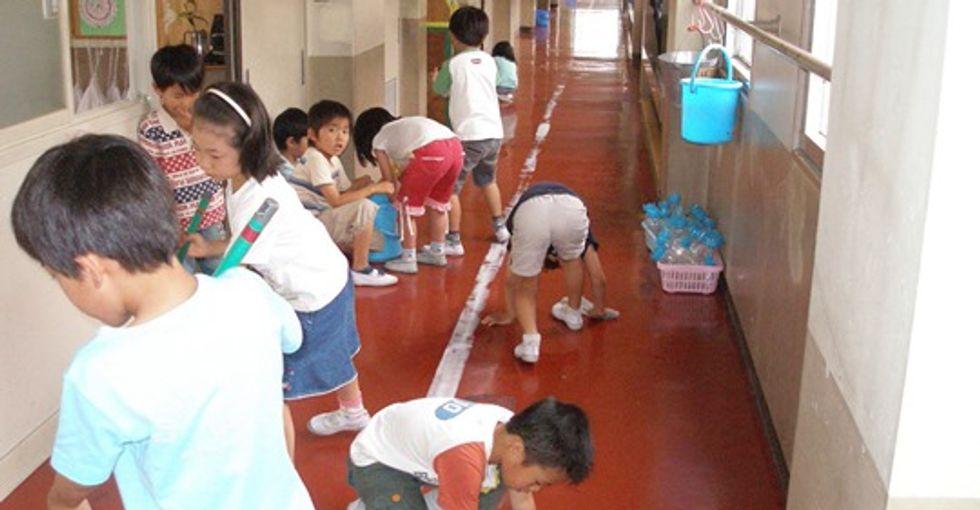 Should children clean their own schools? Japan thinks so.