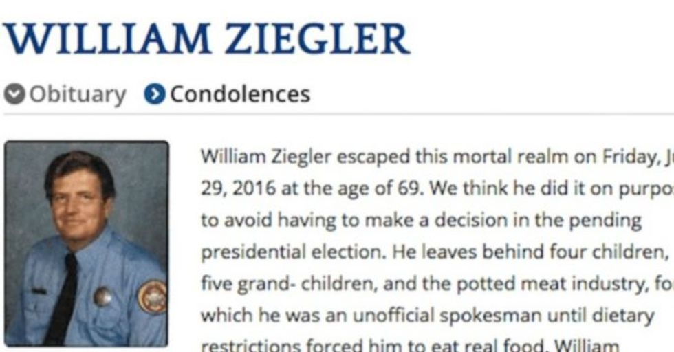 A fireman's children wrote him a hilariously honest obituary he would have loved.