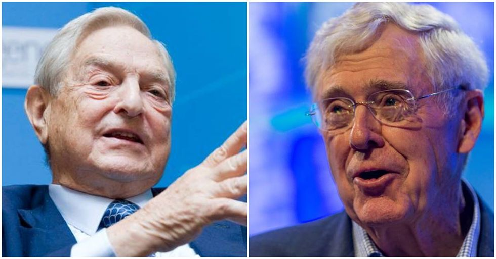Liberal boogeyman George Soros and right-wing billionaire Charles Koch have teamed up to stop 'endless war.'