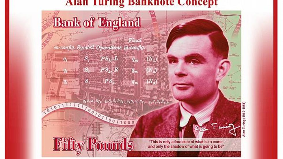 Alan Turing will appear on the 50-pound note nearly 70 years after being persecuted for his sexuality.