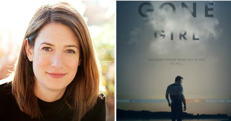 One man wants to use 'Gone Girl' as a defense but author Gillian Flynn isn't having it.
