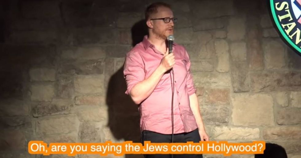 After receiving hundreds of Nazi death threats, Jewish comedian found a way to turn it into a positive.