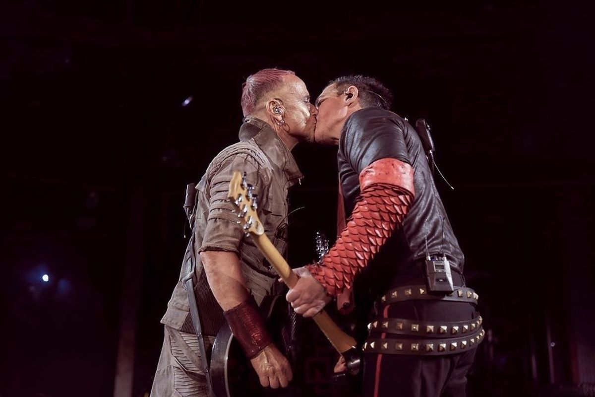 Metal Band Rammstein Kisses Onstage to Protest Russian Anti-LGBTQ Laws
