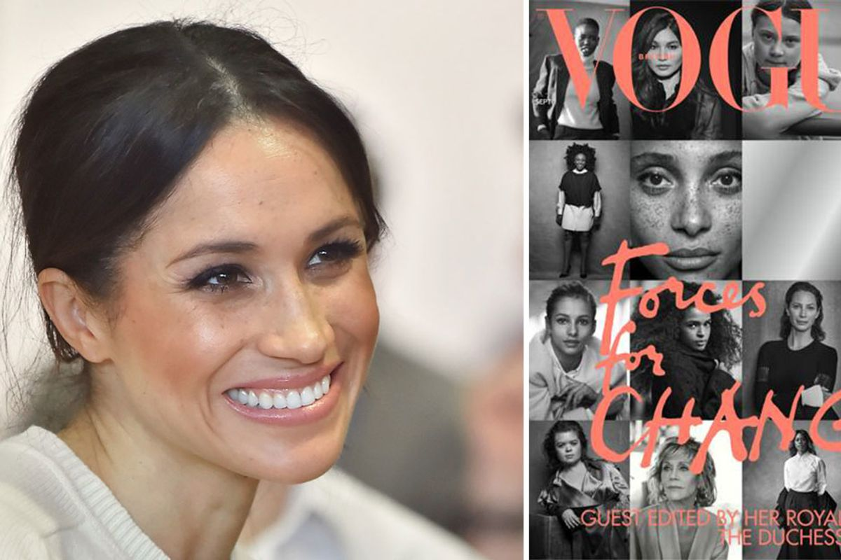 Meghan Markle made sure freckles weren't airbrushed out of her guest-edited Vogue cover