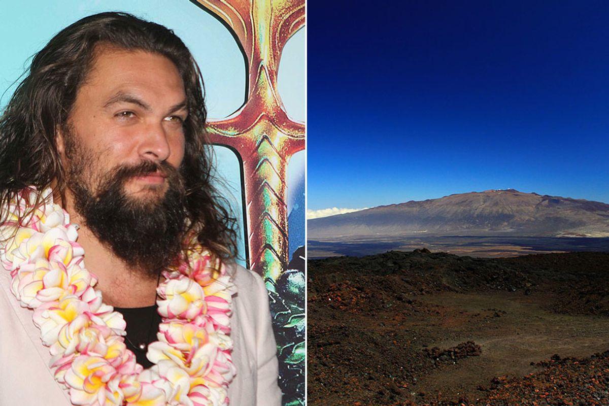 Jason Momoa joined the protest of building a giant telescope on a sacred Hawaiian mountain