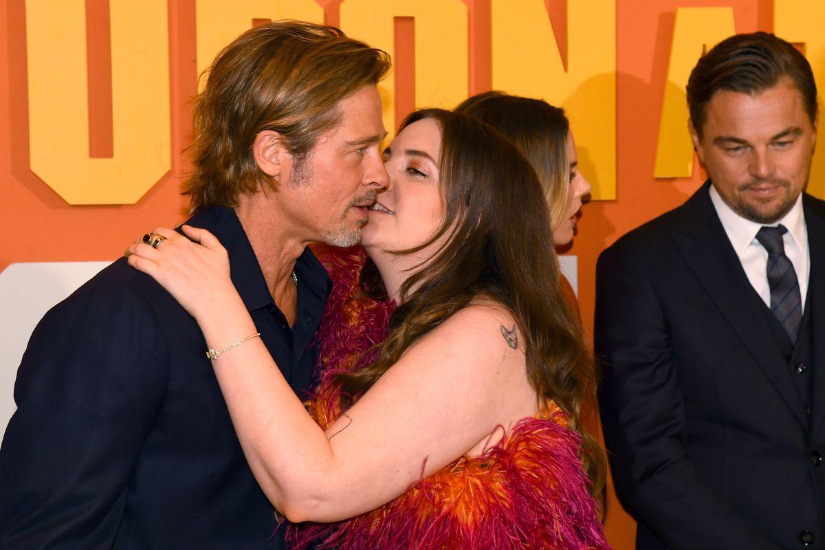 Lena Dunham's Brad Pitt Kiss Sparks Backlash