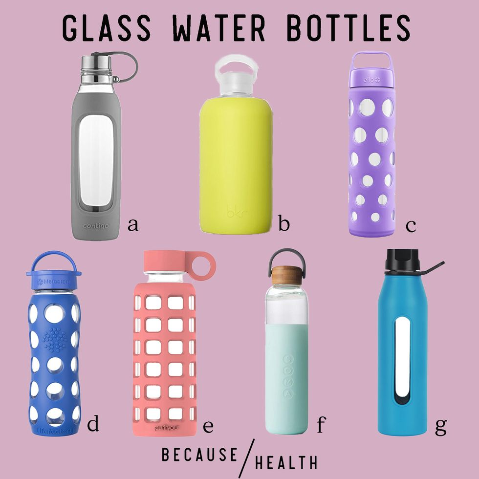 7 Glass Water Bottles