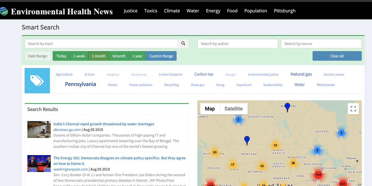 New way to find relevant news on our environment and health