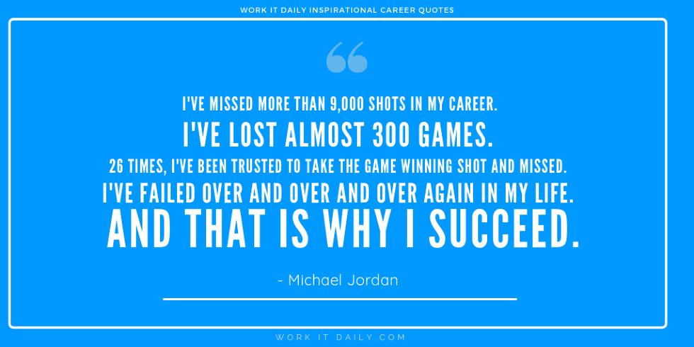 Inspirational Career Quotes Michael Jordan
