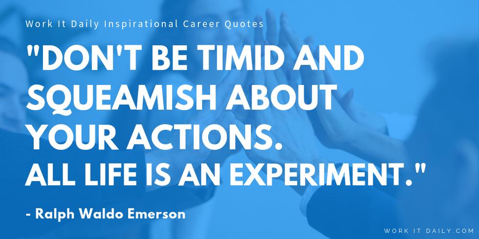 Inspirational Career Quotes Ralph Waldo Emerson