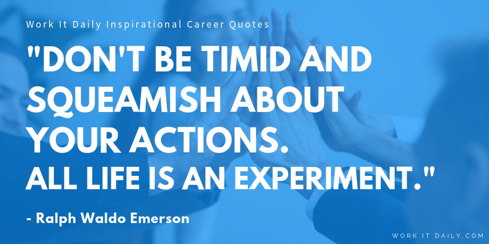 Inspirational Career Quotes Ralph Waldo Emerson