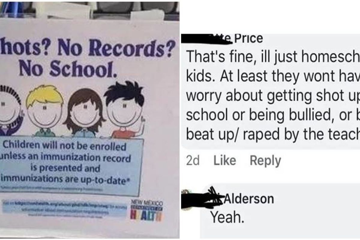 Anti-science mother argues her kids are better off homeschooled than getting immunized
