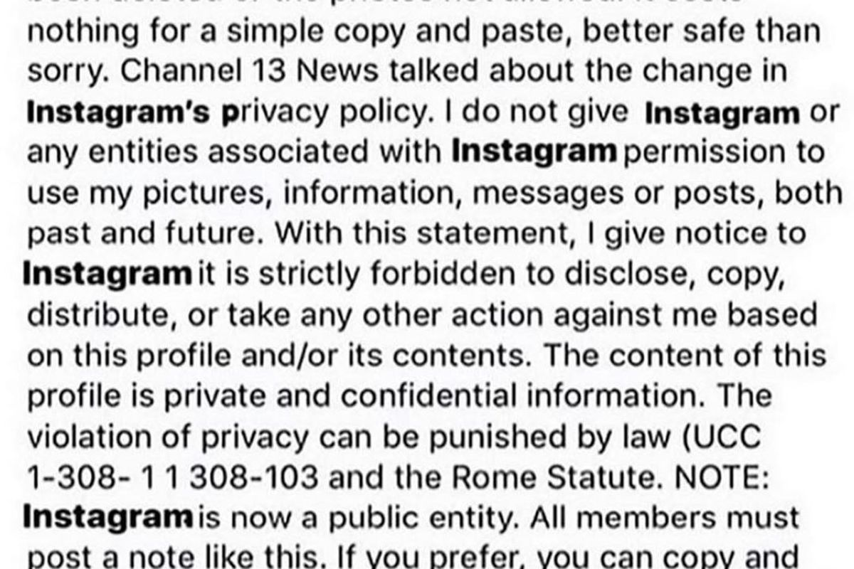 Stop Re-Posting That Instagram Privacy Hoax