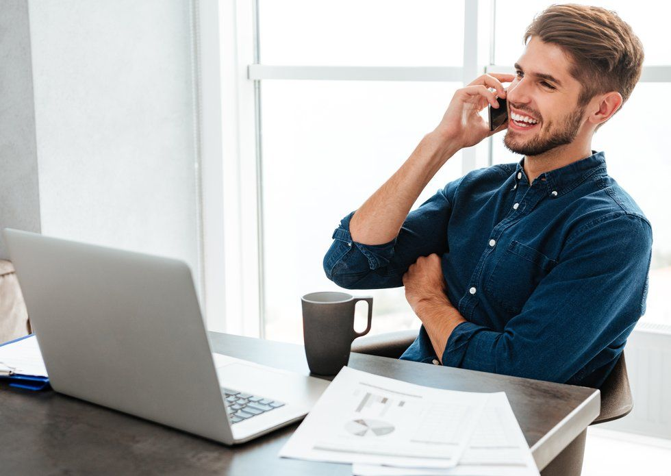 Job seeker showing interest during phone interview