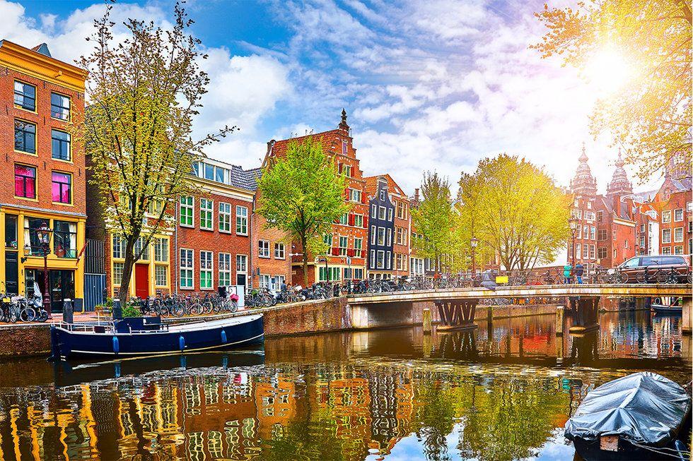 Channel in Amsterdam, Netherlands