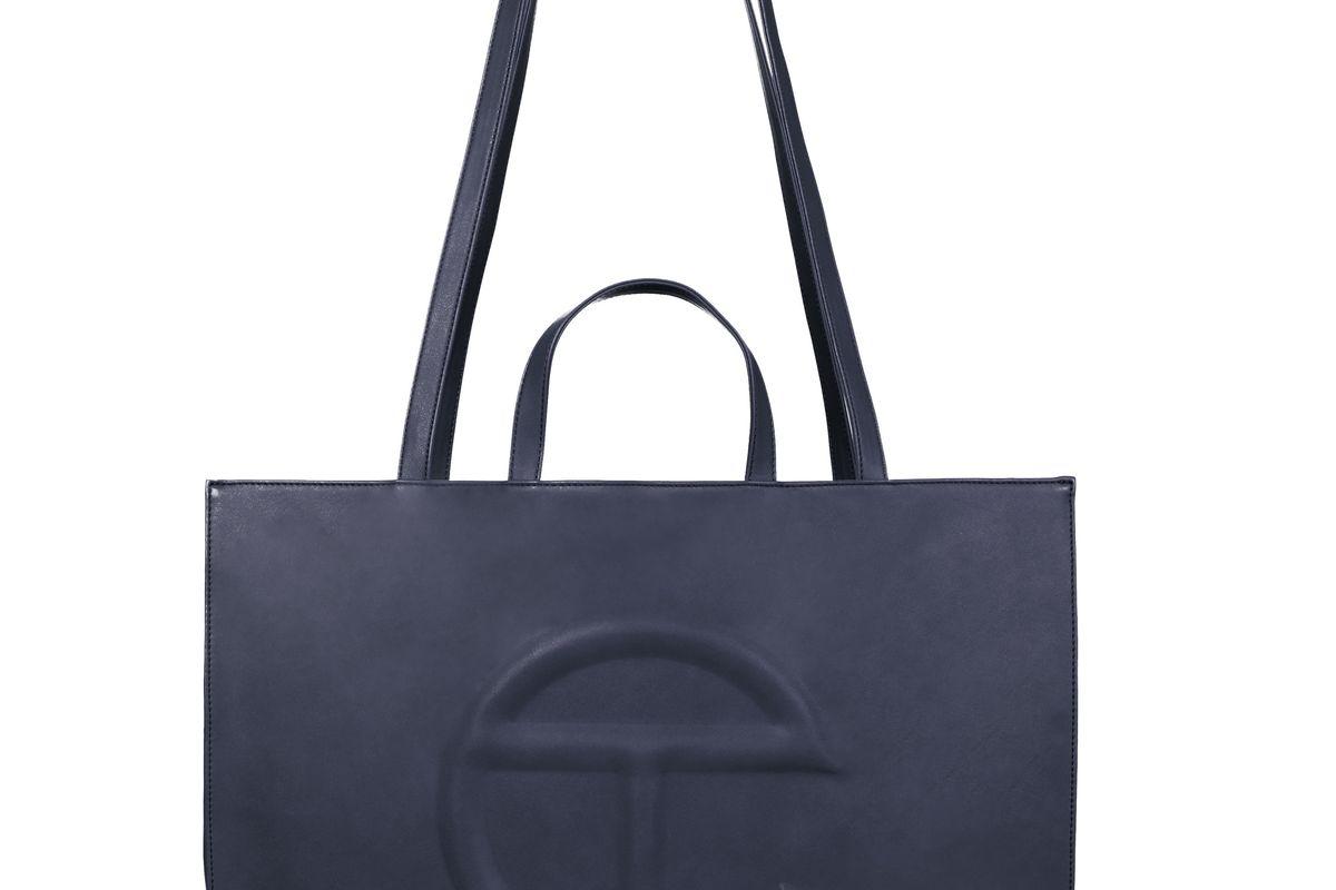 Large Navy Shopping Bag