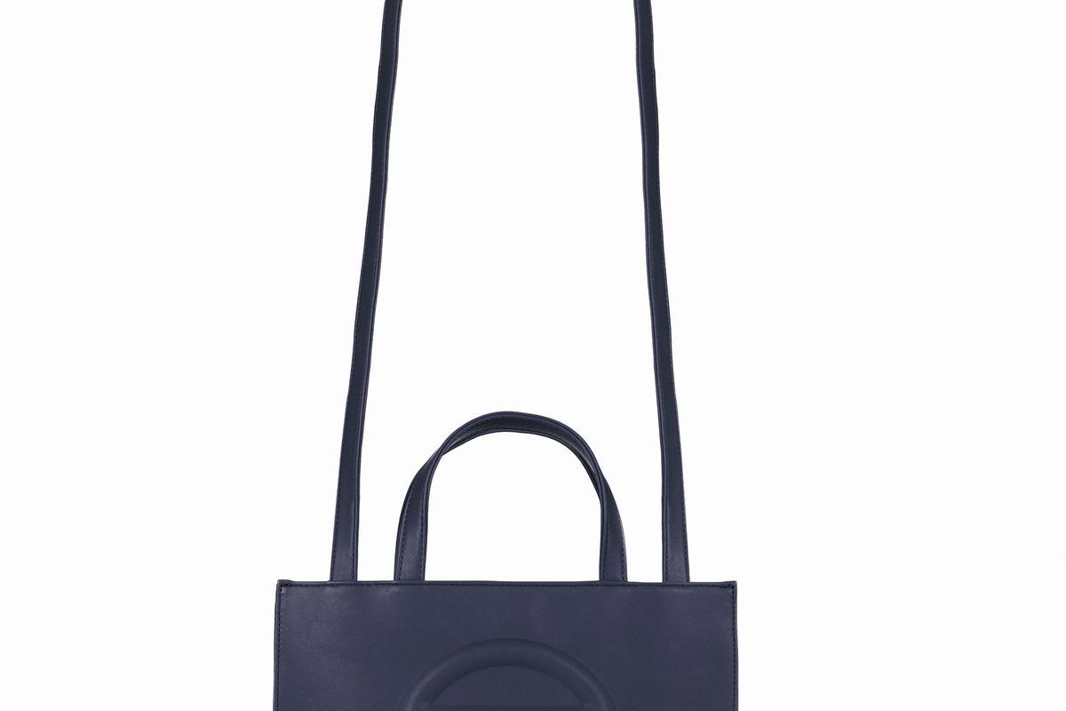 Medium Navy Shopping Bag