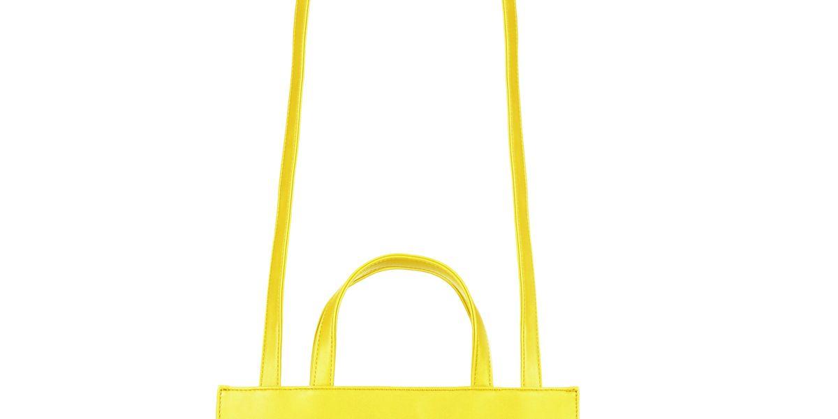 Medium Yellow Shopping Bag