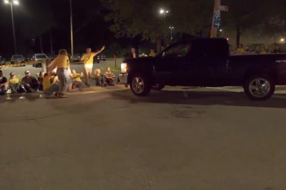 Jewish activists were protesting an ICE facility when a truck drove straight toward them