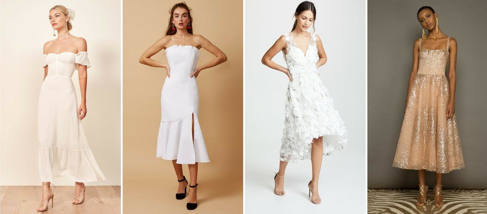 16 White Dresses That Prove Wedding Reception Outfits Are A Thing Brit Co,Indo Western Marriage Groom Dress For Wedding