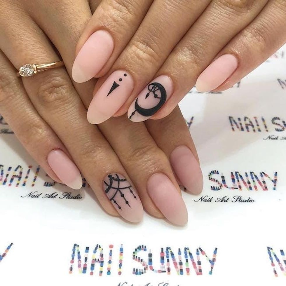 11 Tattoo Inspired Nail Art Ideas We Re Loving Brit Co