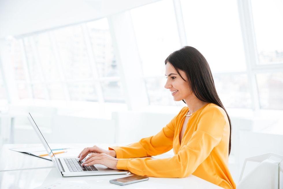 Woman explaining job gap on resume