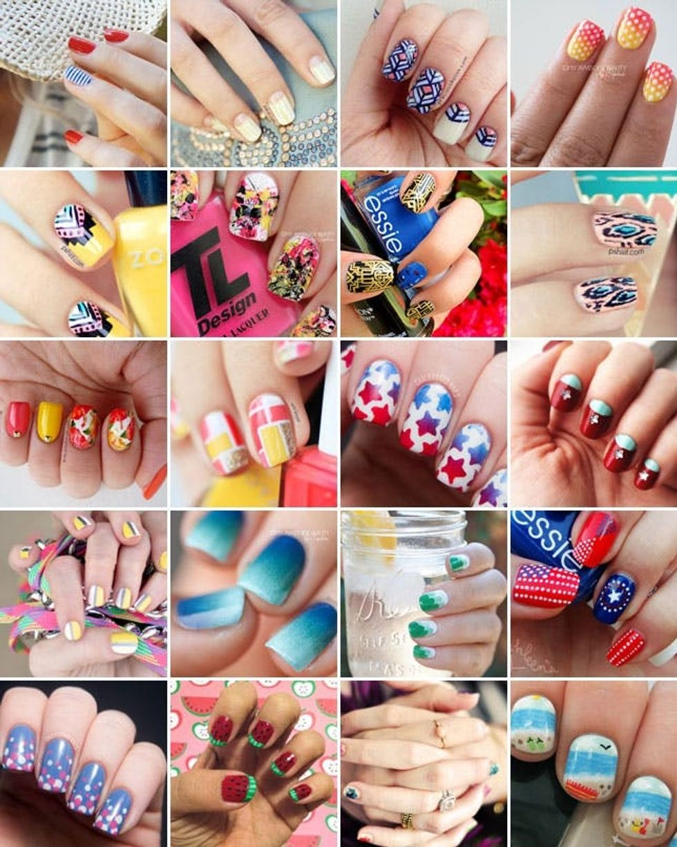 Nails To Diy For 20 Nail Art Tutorials For Summer Brit Co,Clip Art Simple Flower Design Black And White