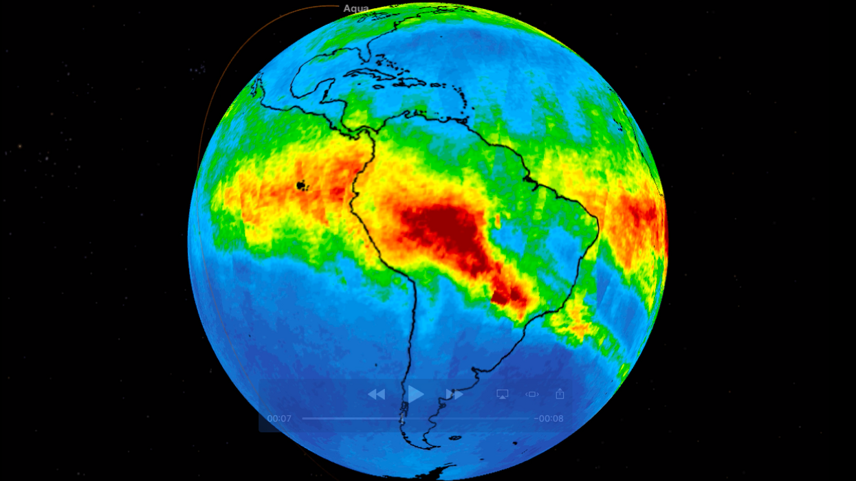 Image from the Atmospheric Infrared Sounder (AIRS) on NASA's Aqua satellite