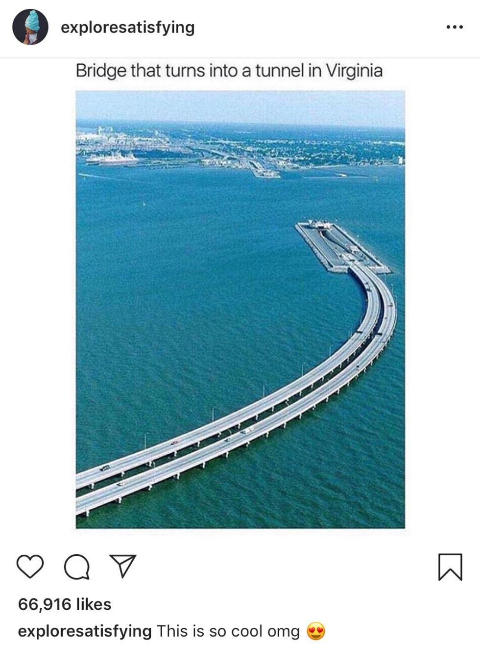 Bridge Tunnel in Virginia
