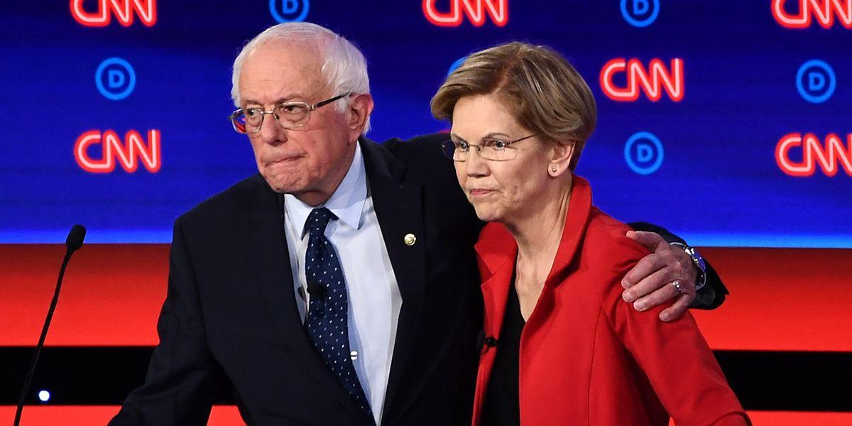 Bernie Sanders and Elizabeth Warren Tie Biden in New Poll