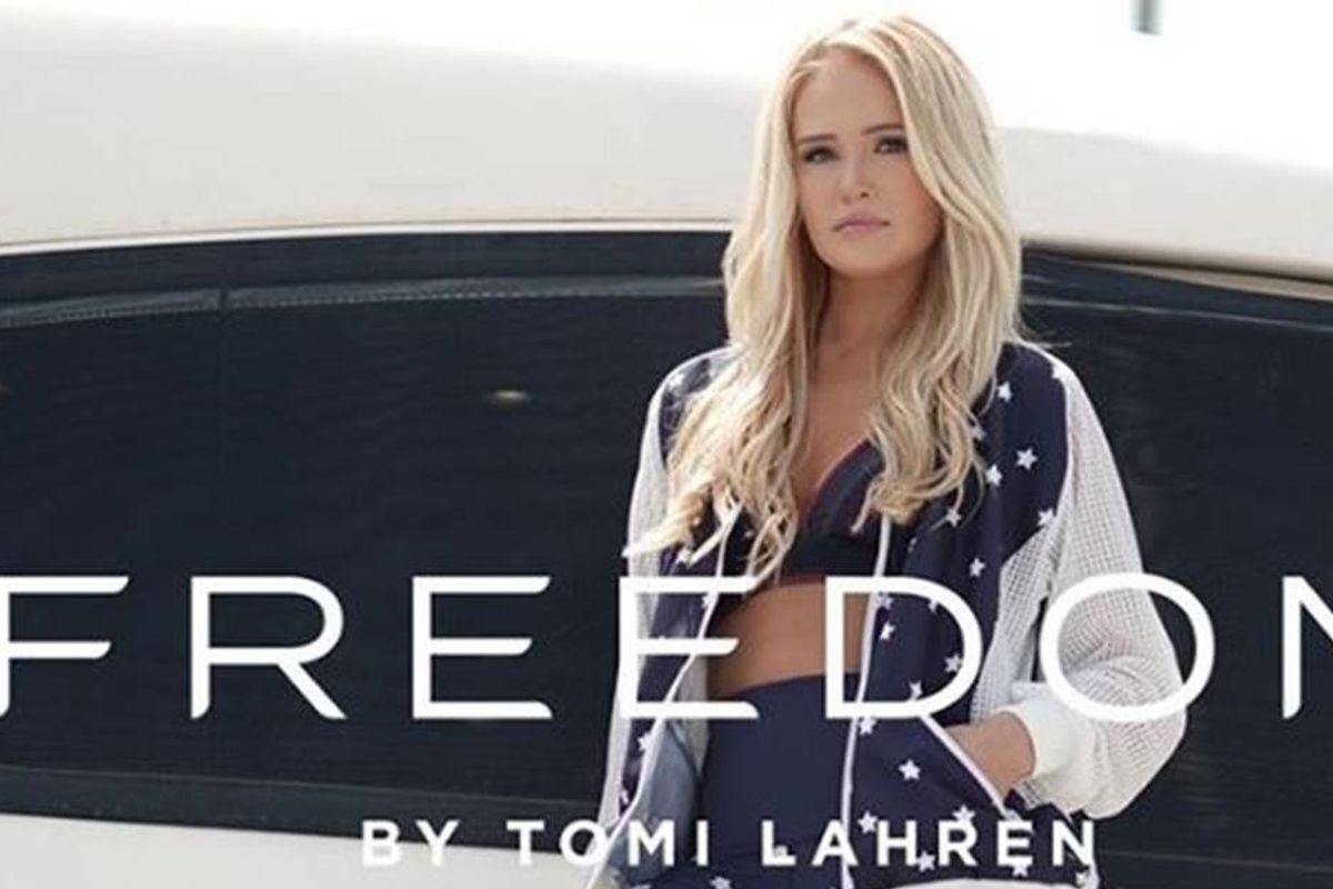 Surprise! Tomi Laren's 'super patriotic' athleisure line is made in China