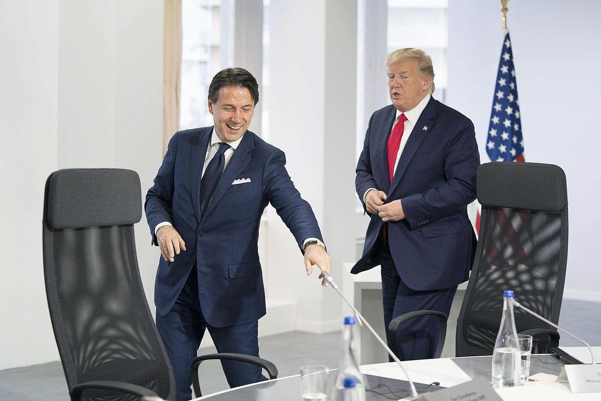 Trump «benedice» Conte e imbarazza il Pd