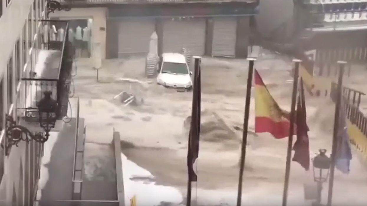 Flash Flooding, Hail Cause Chaos in Madrid