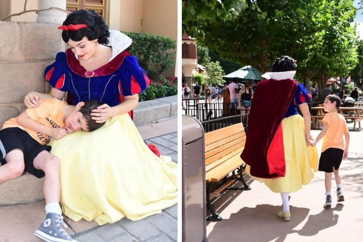 Snow White soothing a boy having an 'autism meltdown' will make you believe in Disney magic