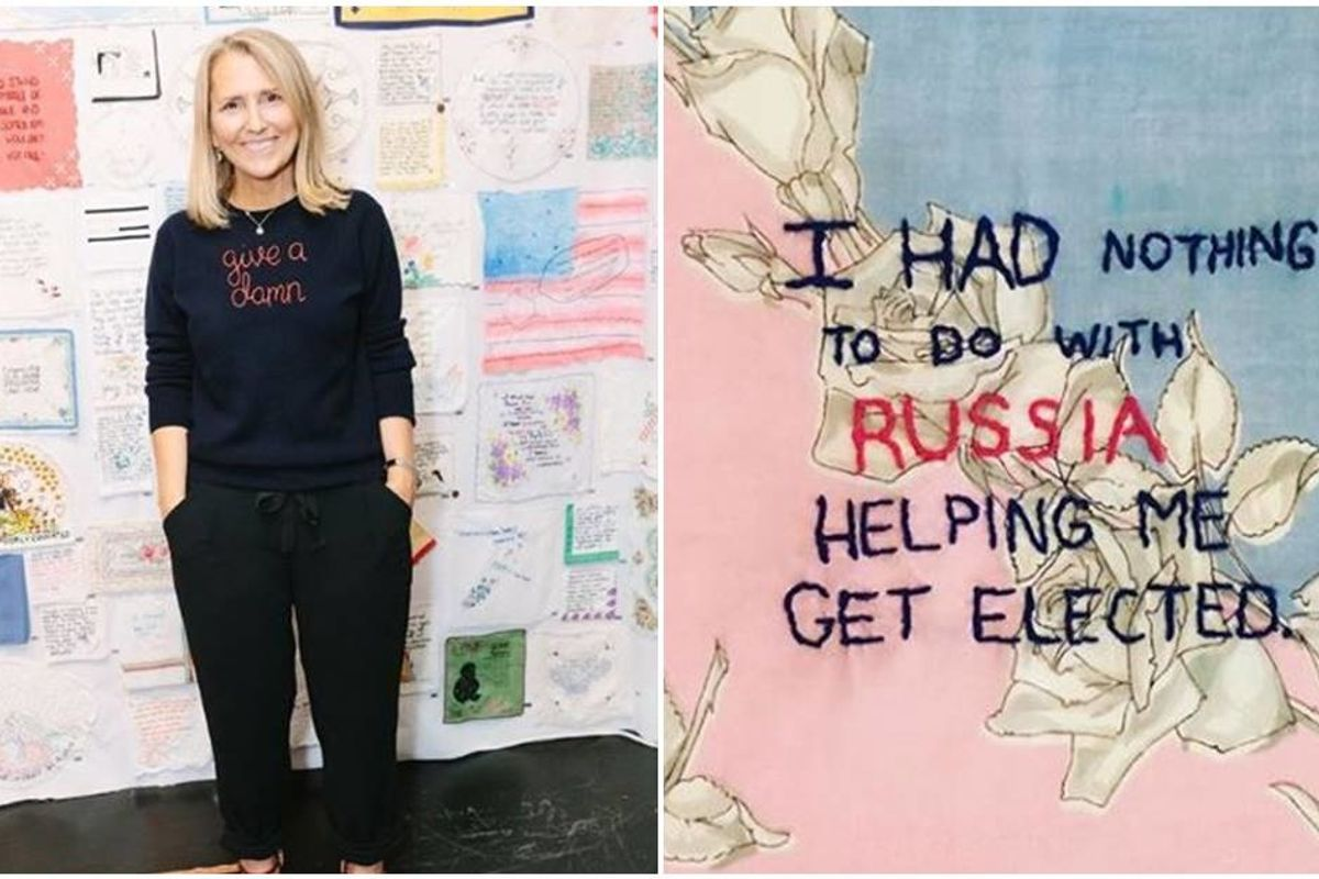 She stitched Trump's tweets to cope with the insanity and an army of needleworkers joined her