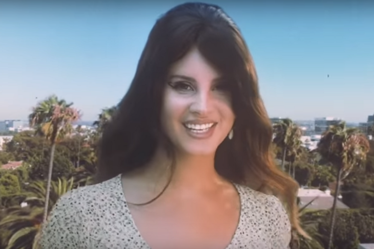 Lana Del Rey Is a Venice Godzilla in 'Doin' Time'