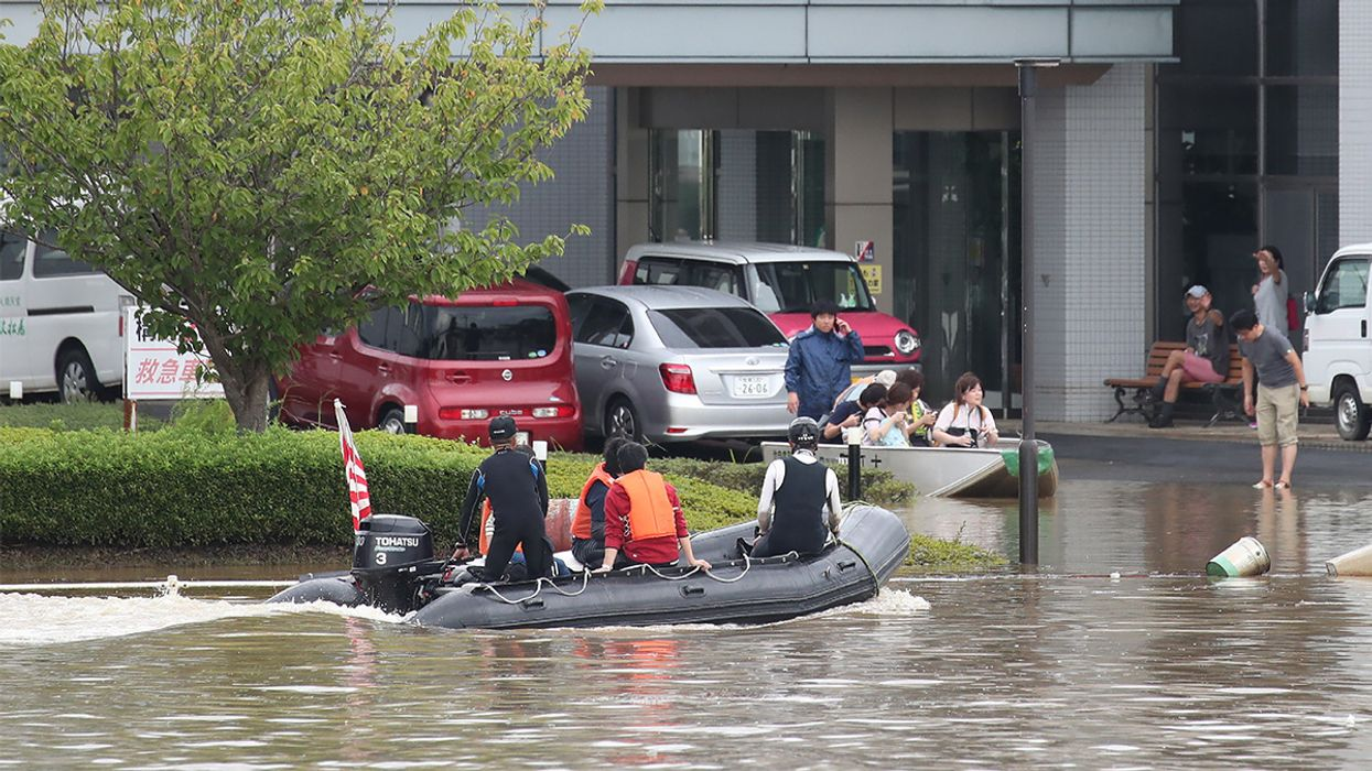 900,000 Forced to Evacuate Deadly Flooding in Japan
