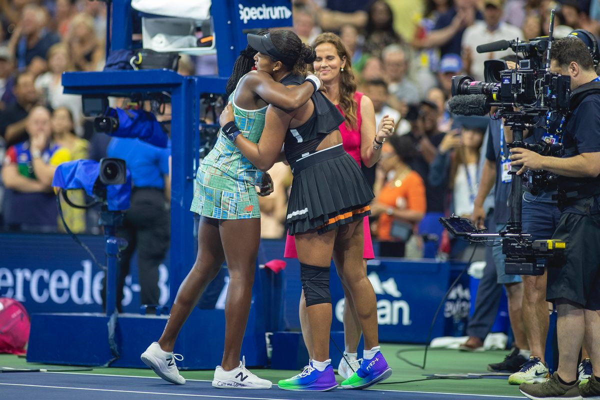 Naomi Osaka and Coco Gauff Have a Moment at the US Open