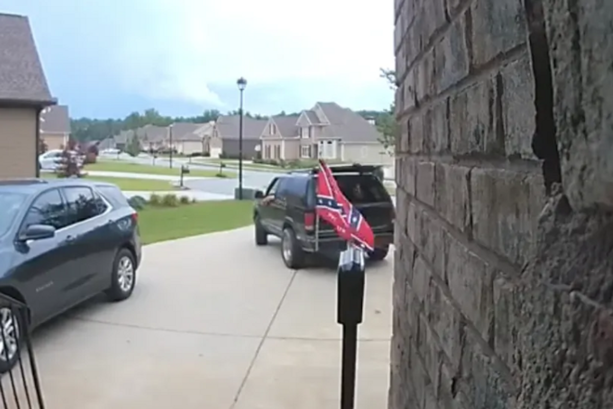 A black couple turned away a contractor who arrived with a giant Confederate flag on his car