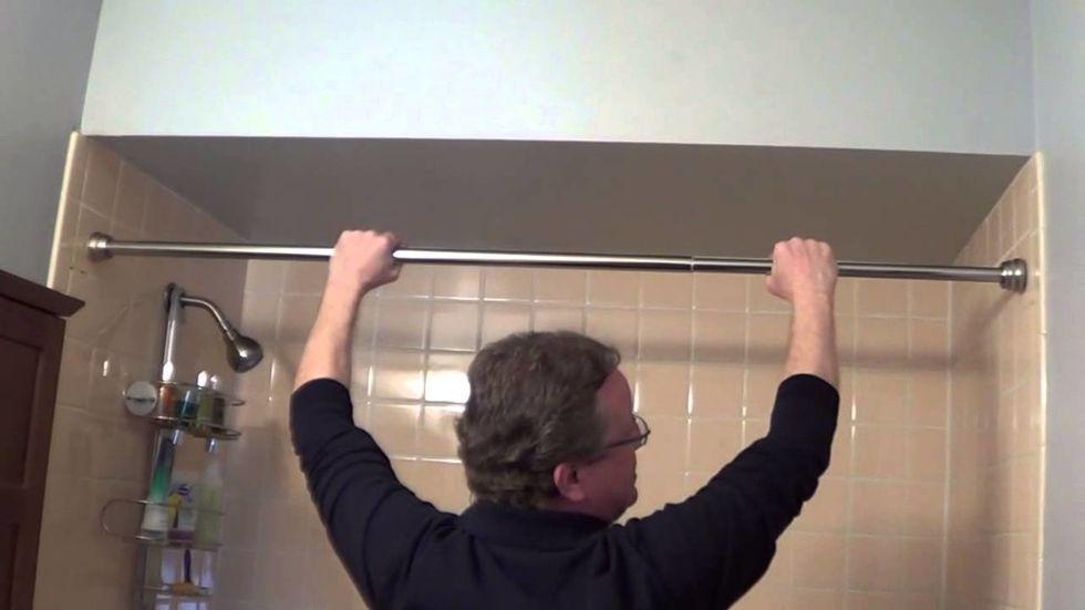 If the shower curtain sticks, install a screen